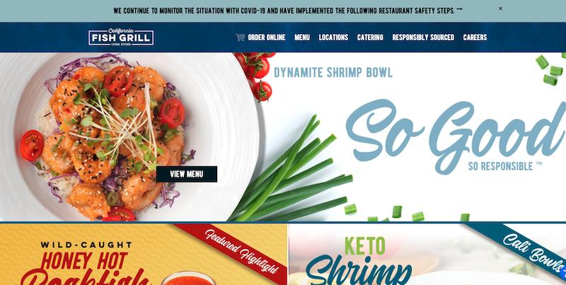 CA Fish Grill Website