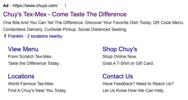 Chuy's Ad