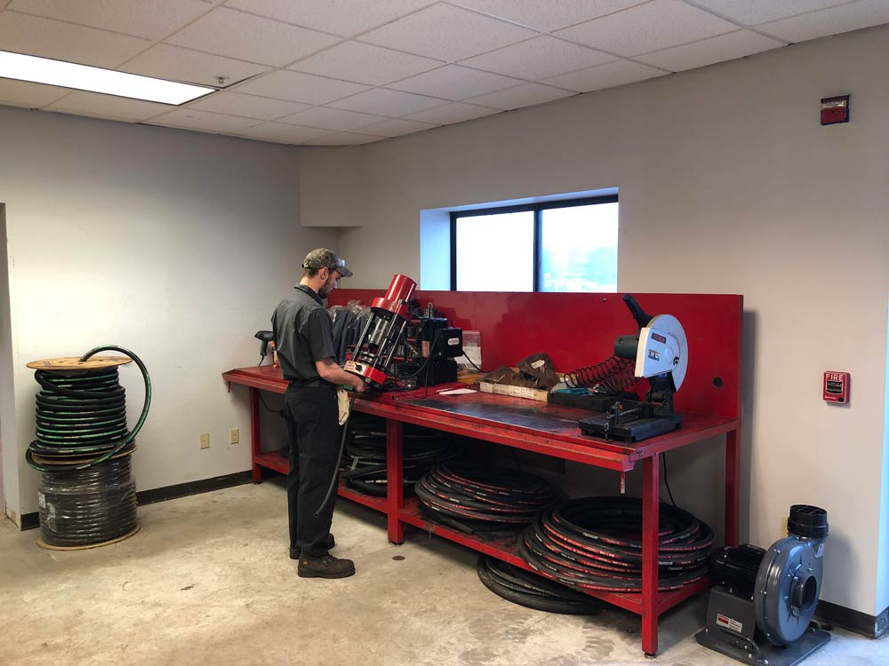 Hose bench in Component Repair & Supply