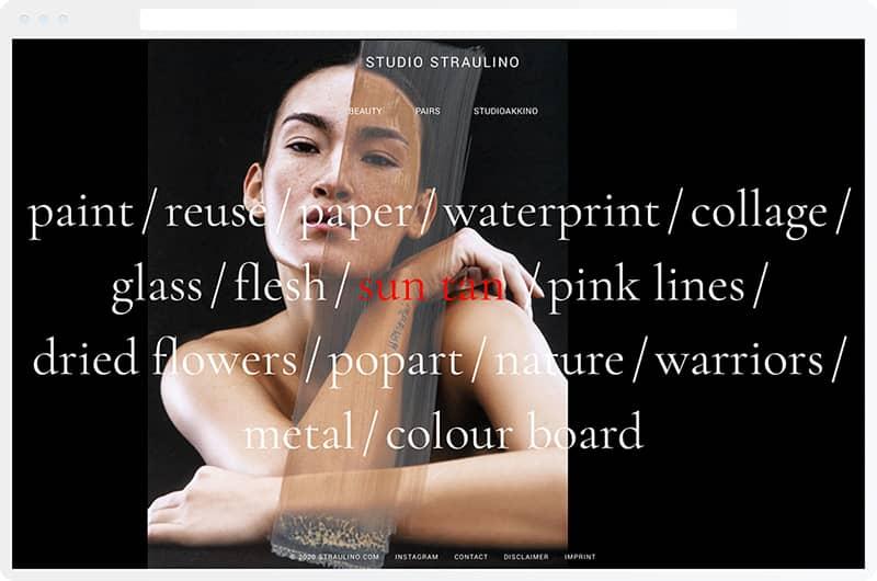 A preview of a vsble design portfolio.