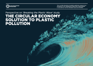 The circular economy solution - perspective on the findings composed by the Ellen MacArthur Foundation