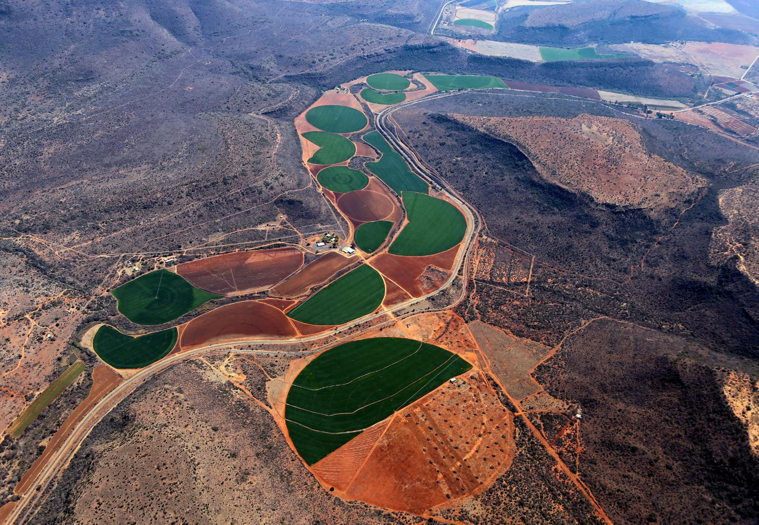 irrigation planting crop circles from the sky