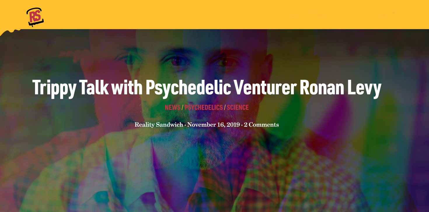 Trippy Talk with Psychedelic Venturer Ronan Levy
