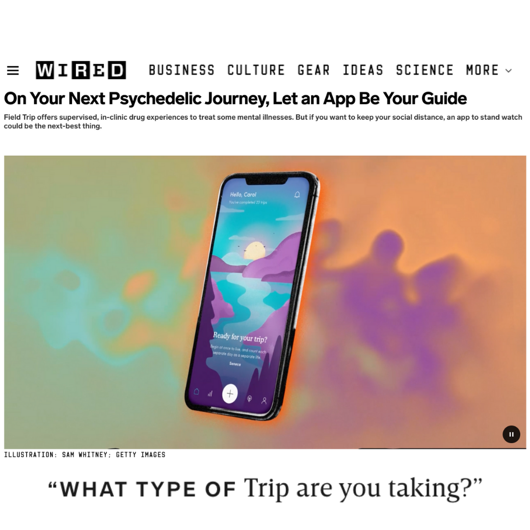 WIRED: On Your Next Psychedelic Journey, Let an App Be Your Guide