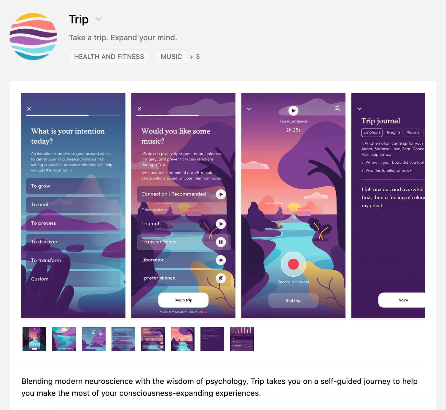 Product Hunt: Trip. Take a trip. Expand your mind