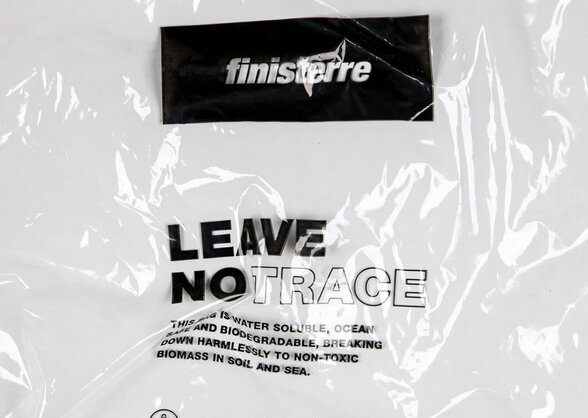 Finisterre 'Leave No Trace' bag, image at  www.aquapakpolymers.com