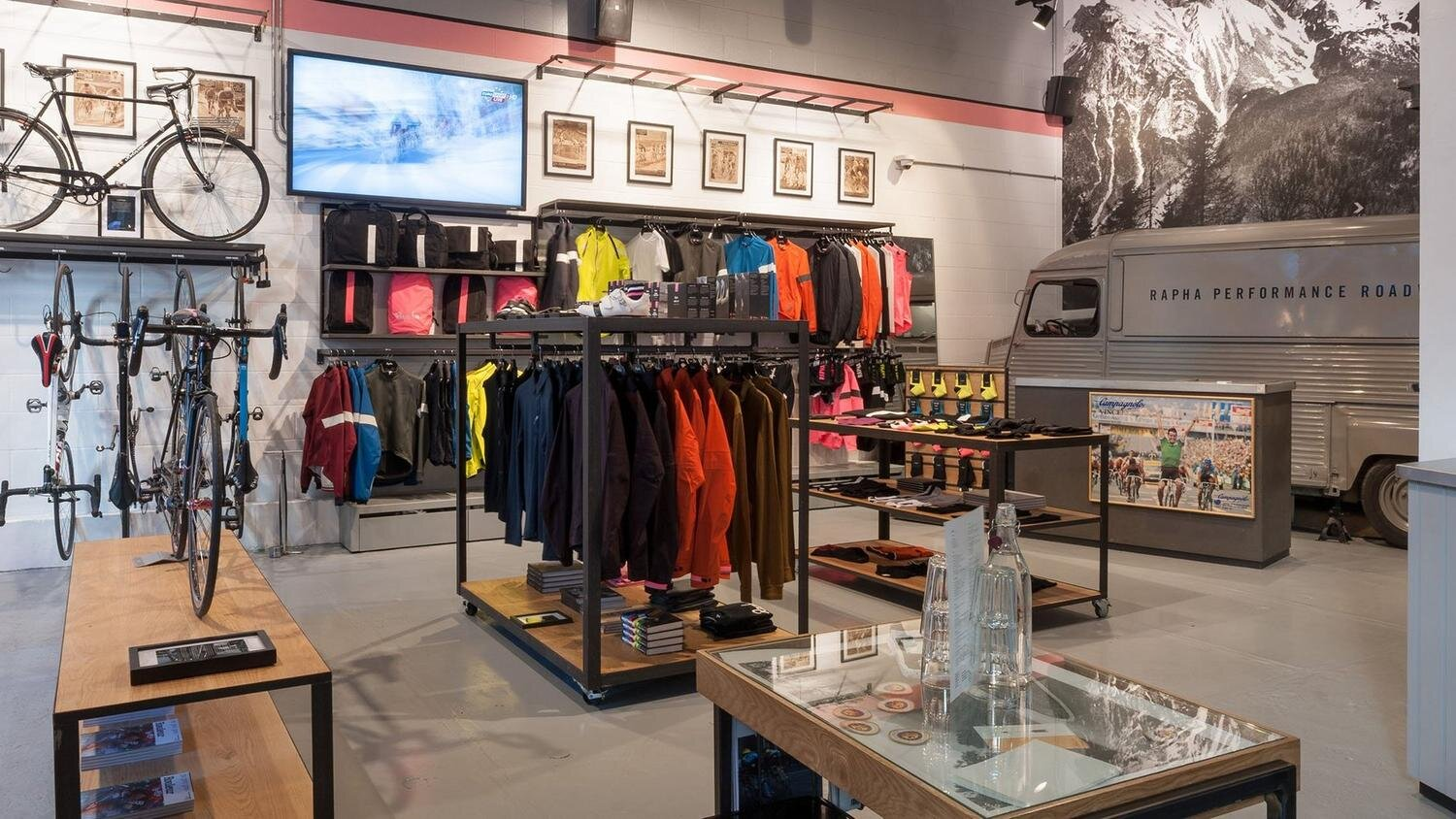 Rapha's flagship clubhouse on Brewer Street, a short walk from Piccadilly Circus, image at   www.rapha.cc