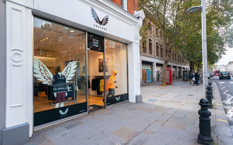 Castore's new flagship on Kings Road, image at   www.castore.com