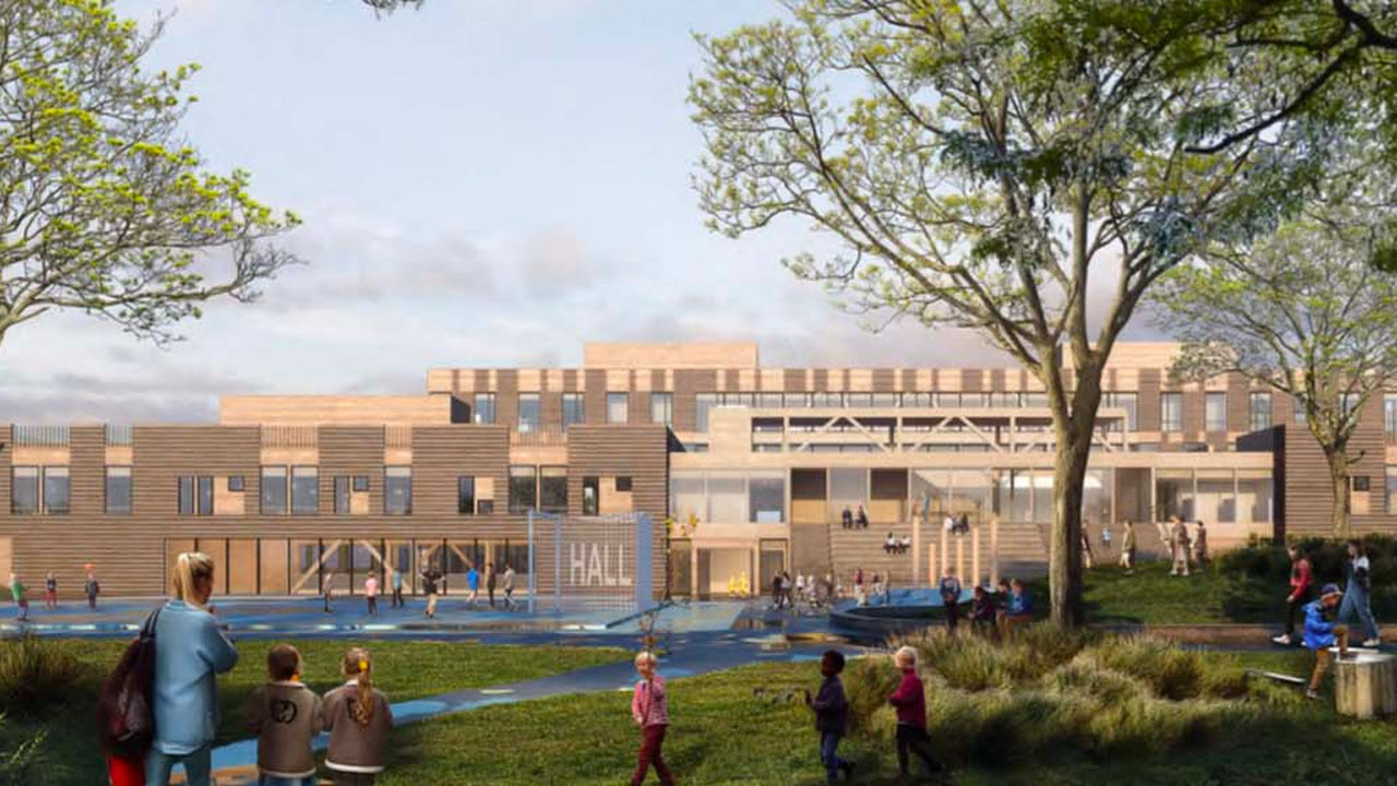 Nye skoler, idrettshall og rehabiliteringssenter på Nidarvoll og Sunnland
