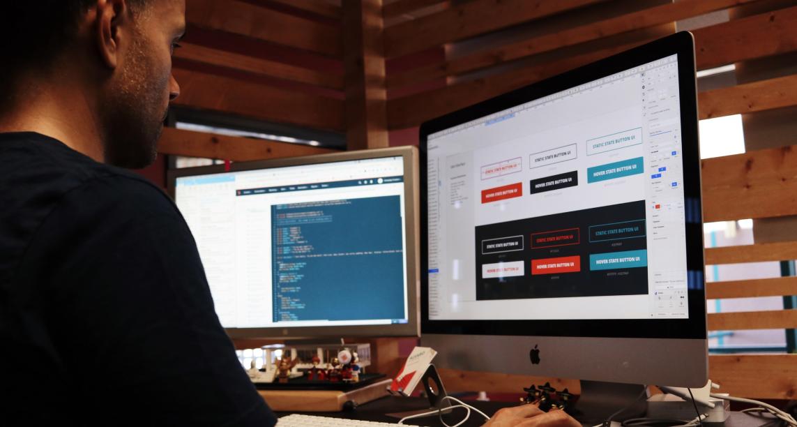 A designer at their computer