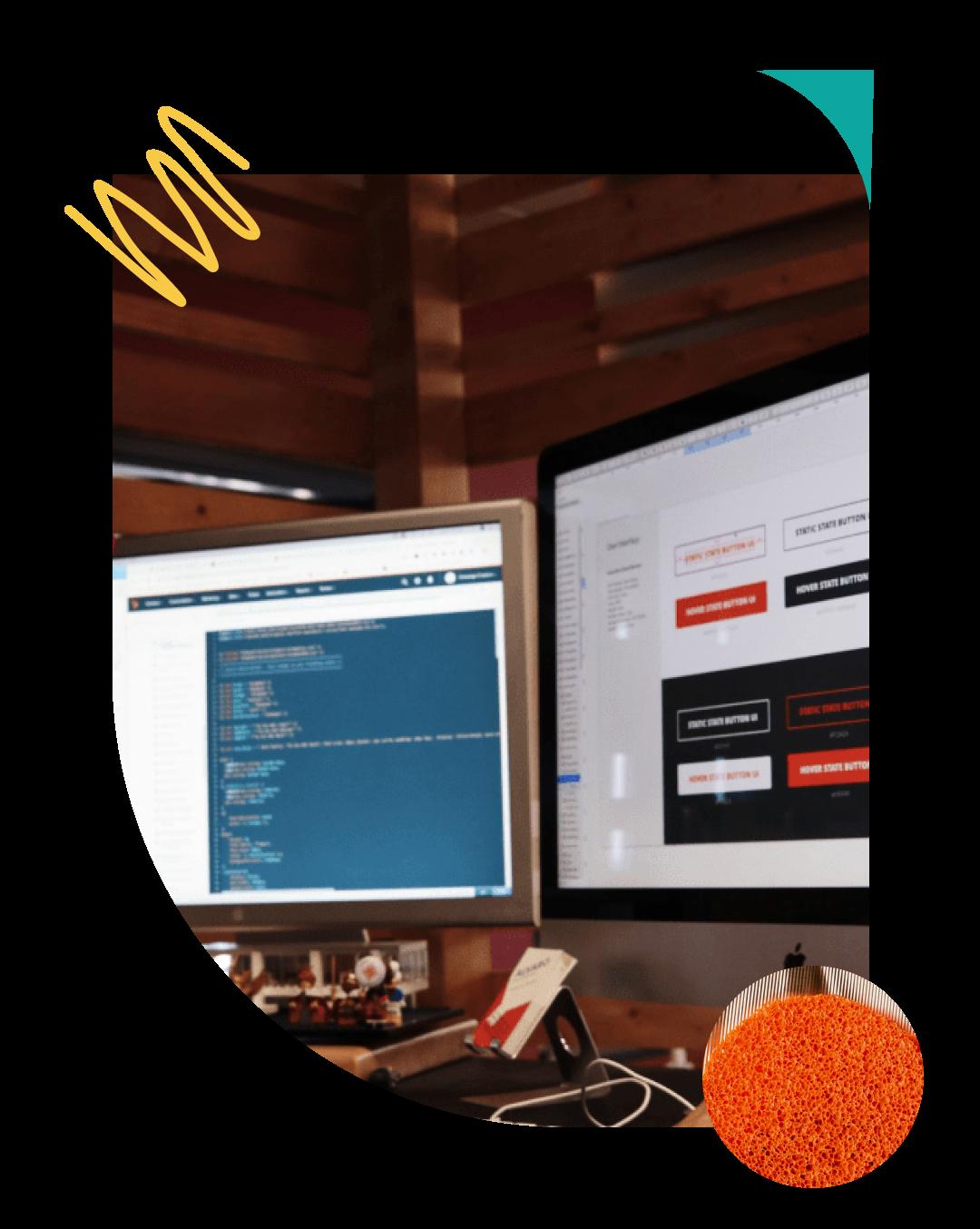 web Designer at desk