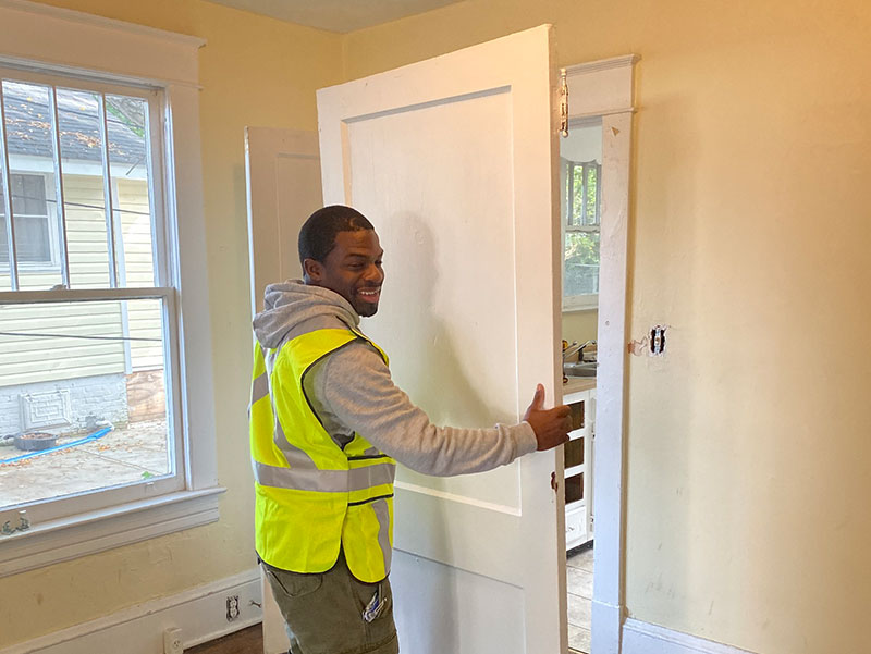 door installation project in raleigh