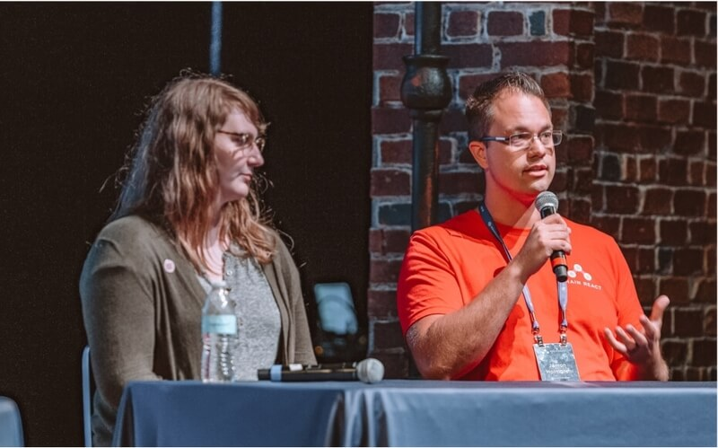 image of infinite red team member on a conference panel