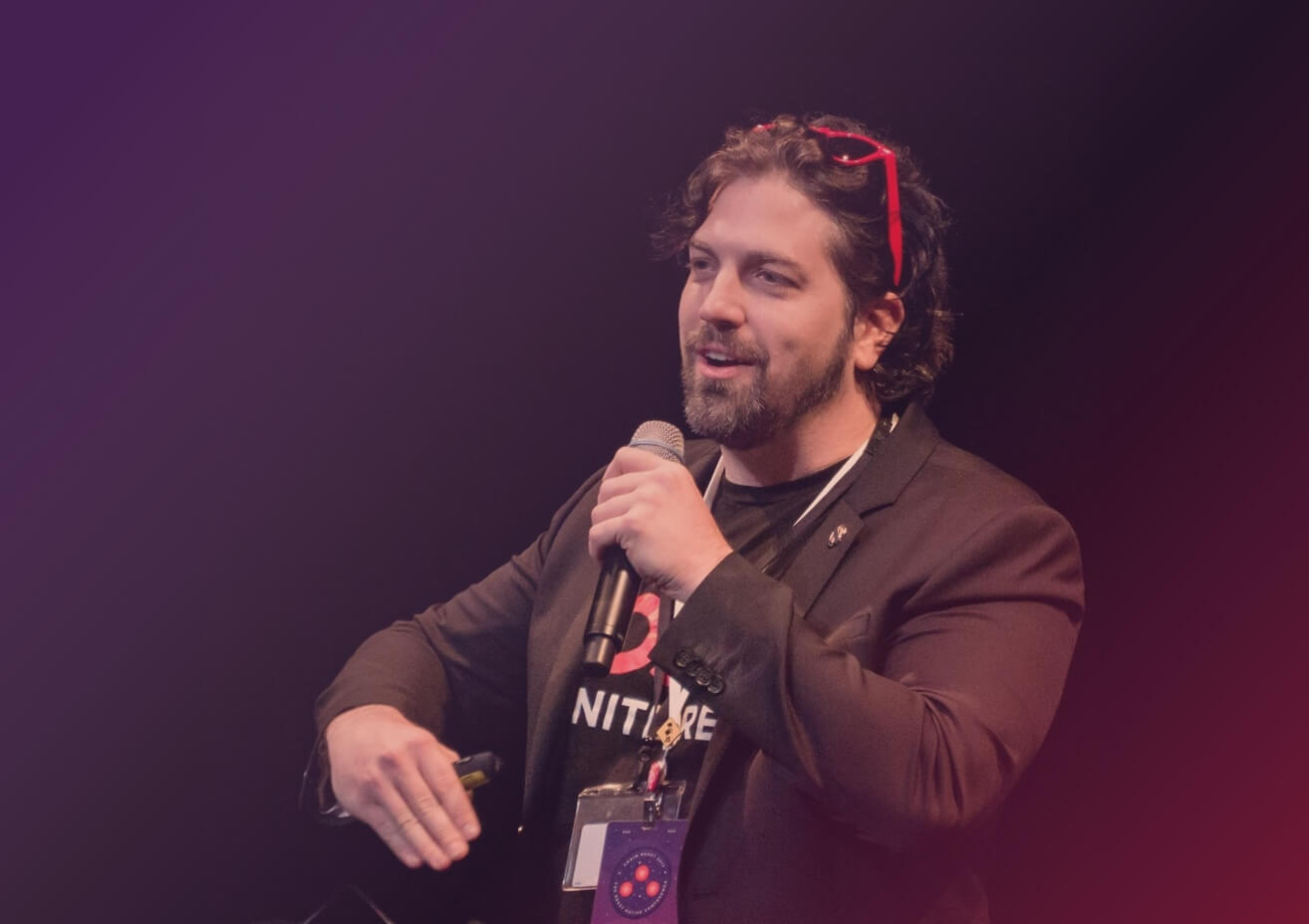 Gant speaking at a conference