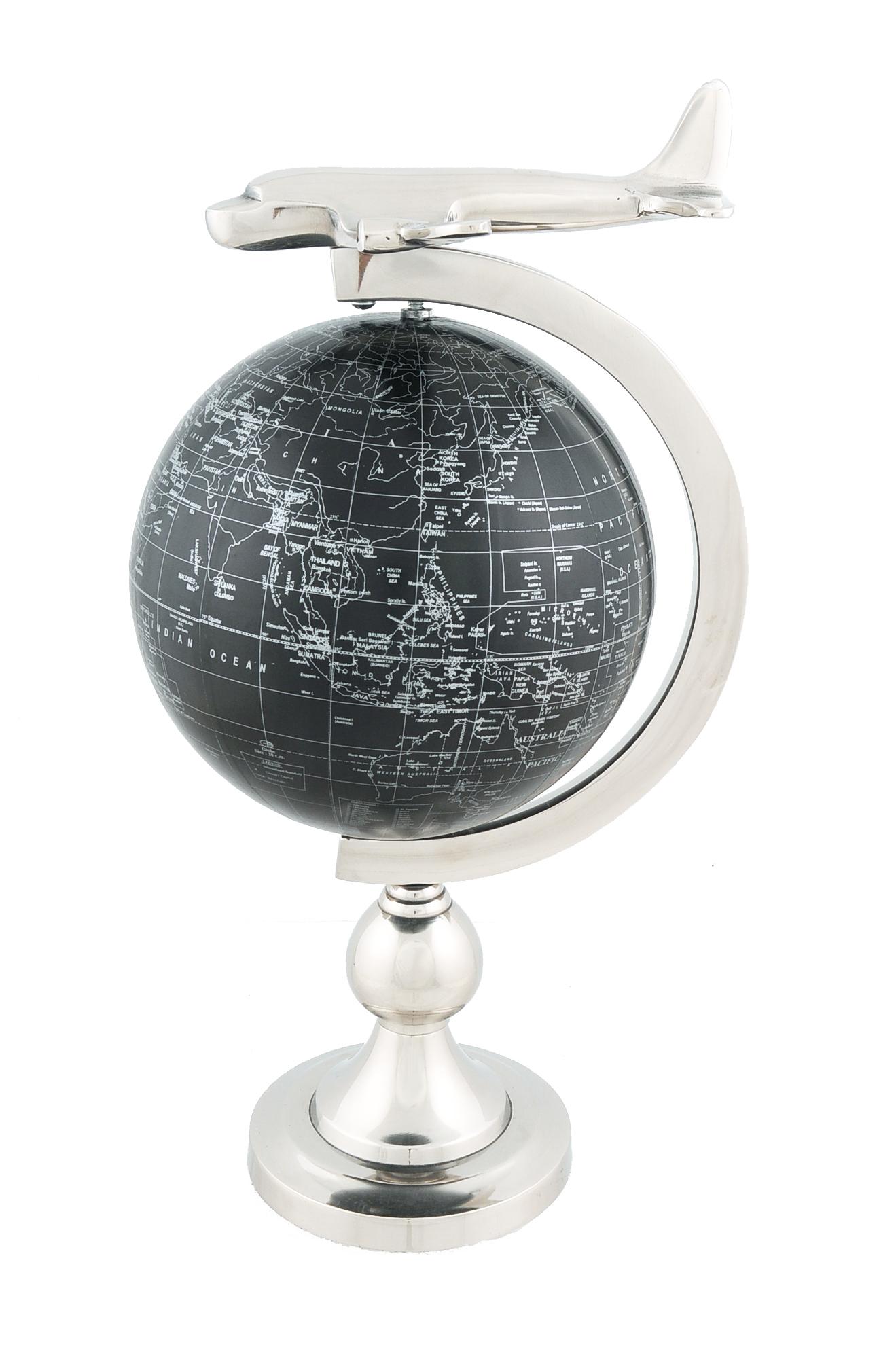 Airplane On Globe