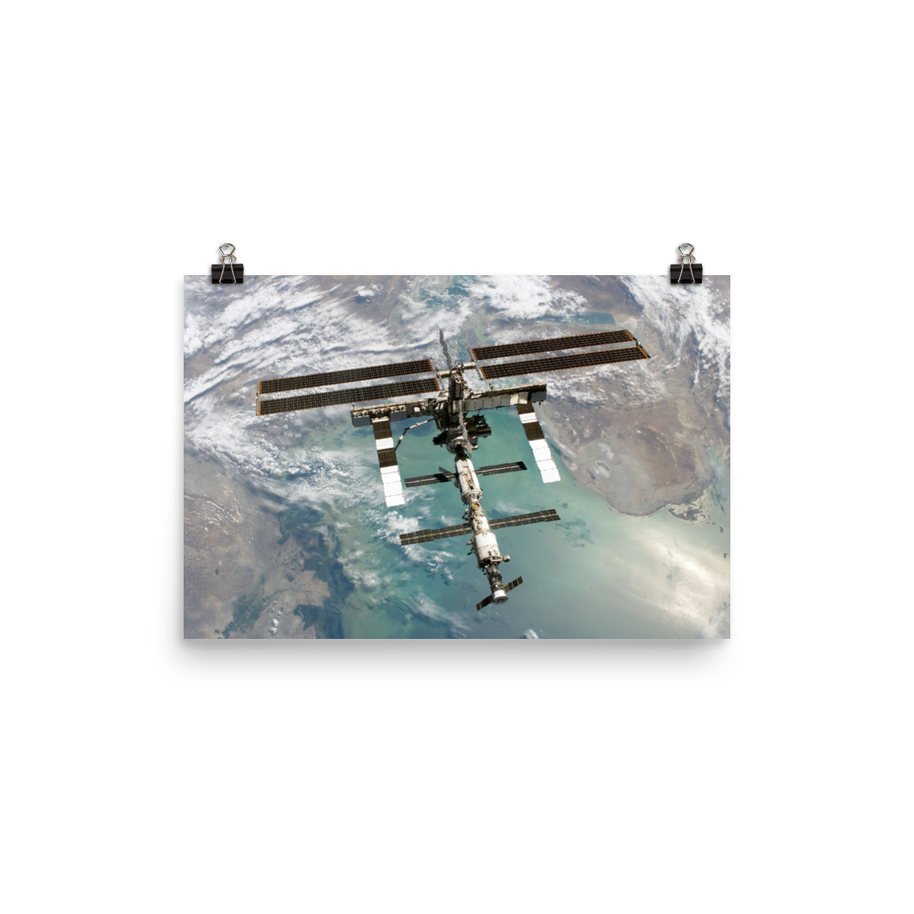 ISS Over the Caspian Sea
