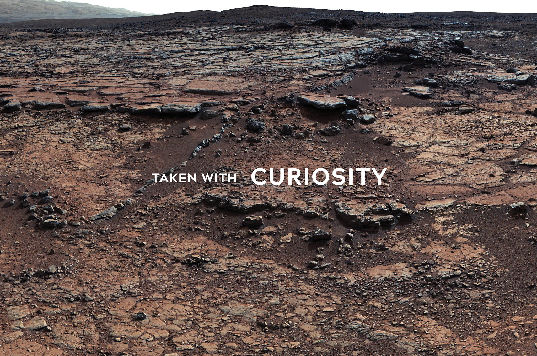 Mars Surface with Curiosity
