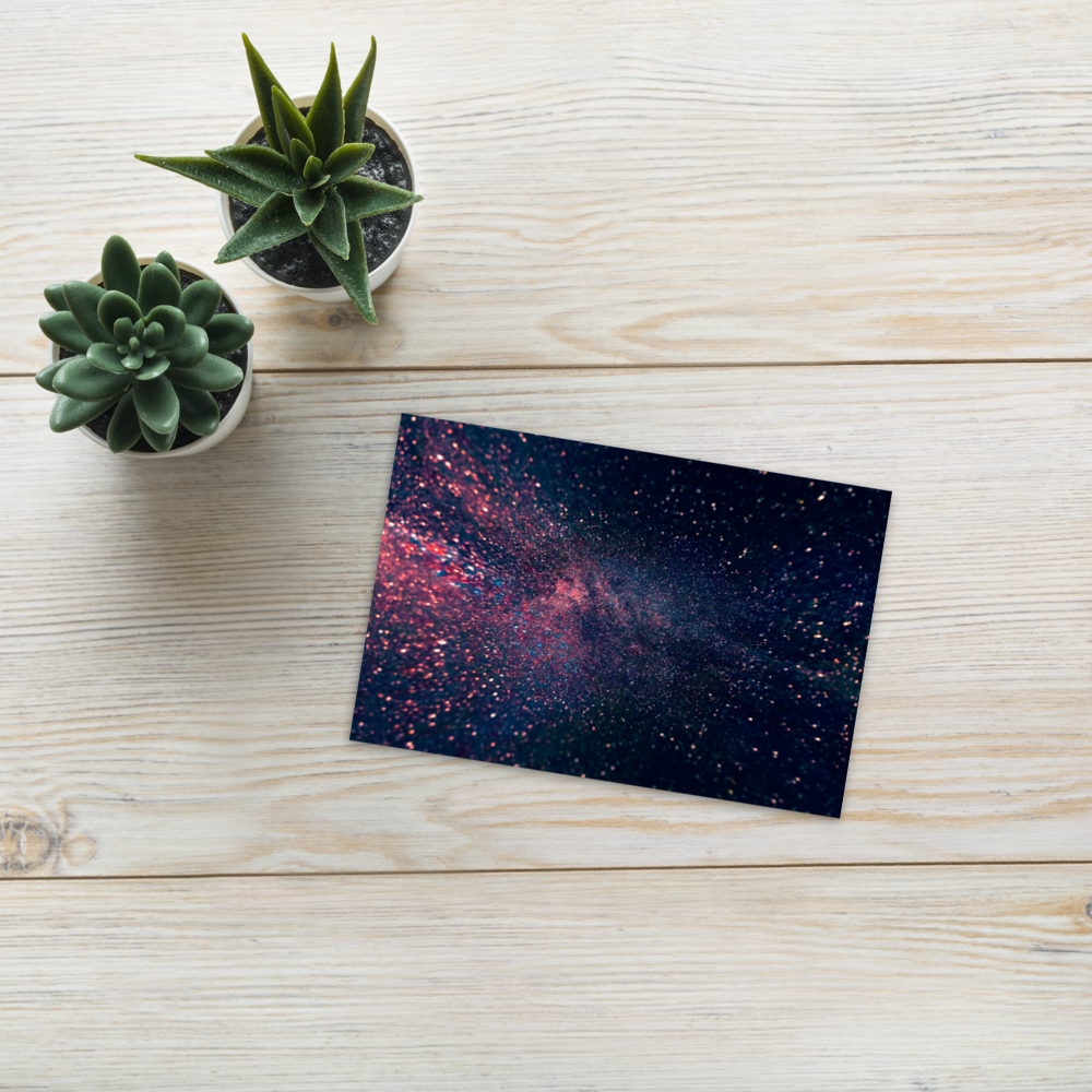 Abstract Stars Postcard
