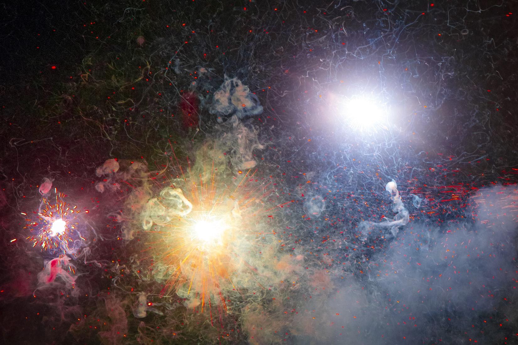 Exploding Stars Postcard
