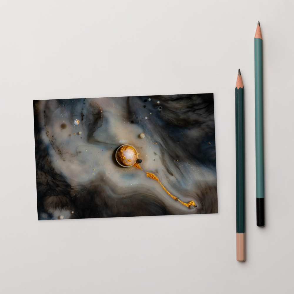 Abstract Solar System Postcard