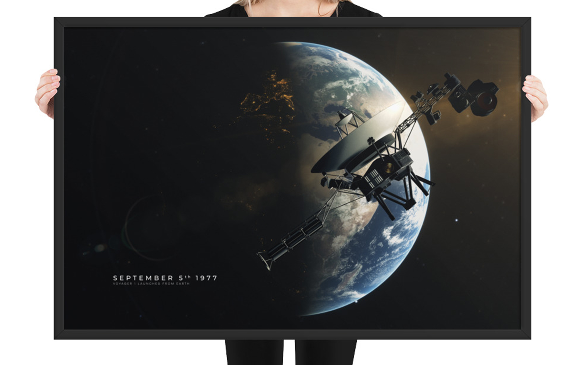 Voyager 1 - Launching from Earth (Framed)