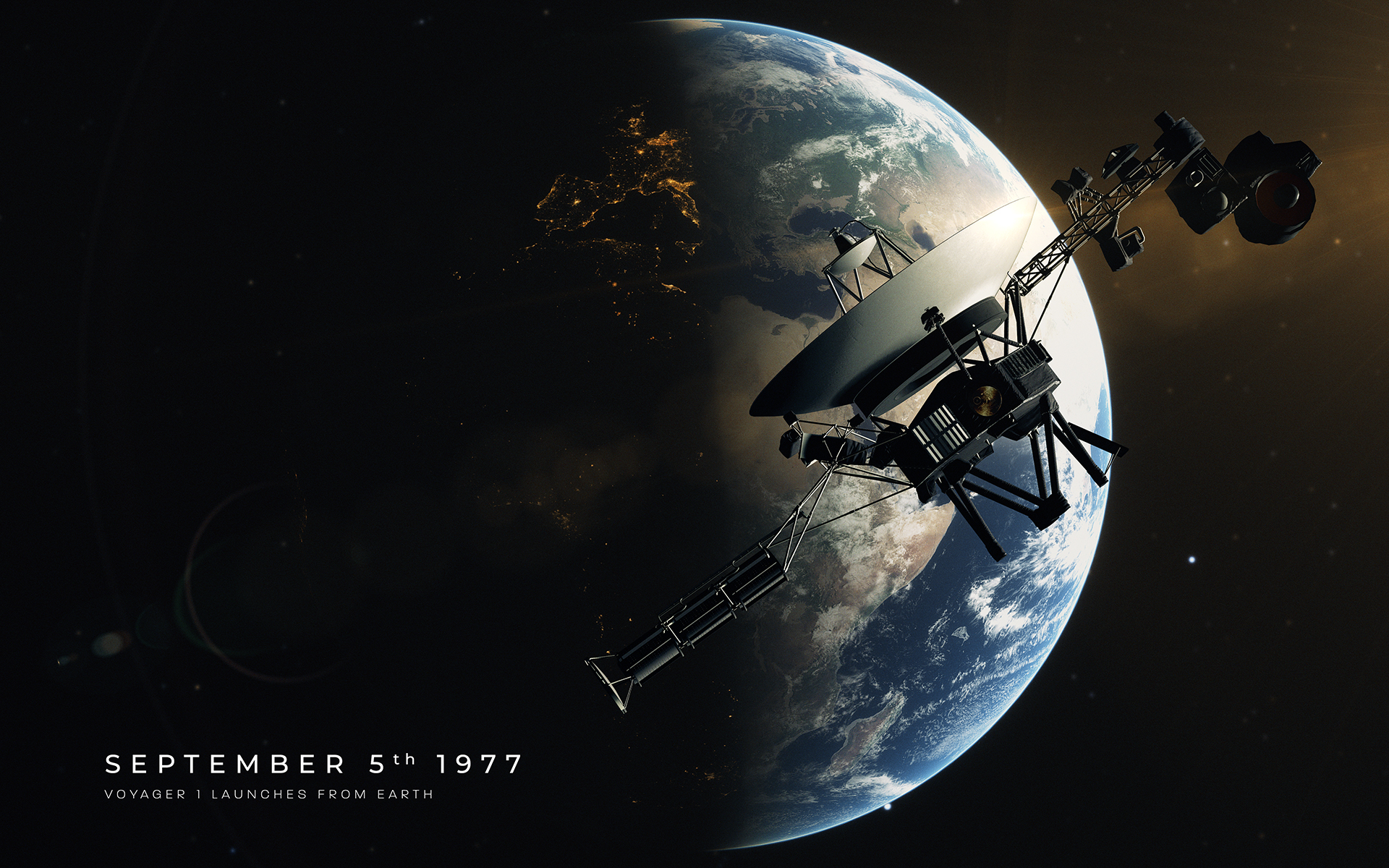 Voyager 1 - Launching from Earth (Poster)
