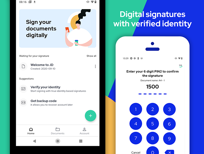 How do I sign documents on Android?
