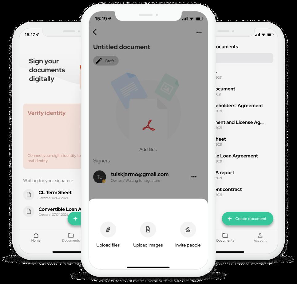 How do I sign documents on iOS?