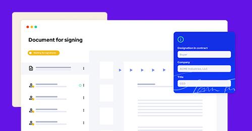 Agrello web app 3.3:  Data-rich digital signatures