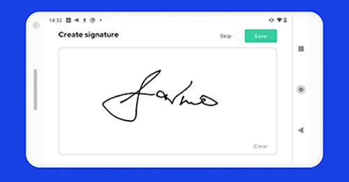 How do I create a visual signature?