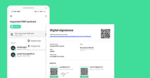 What is a visual signature?