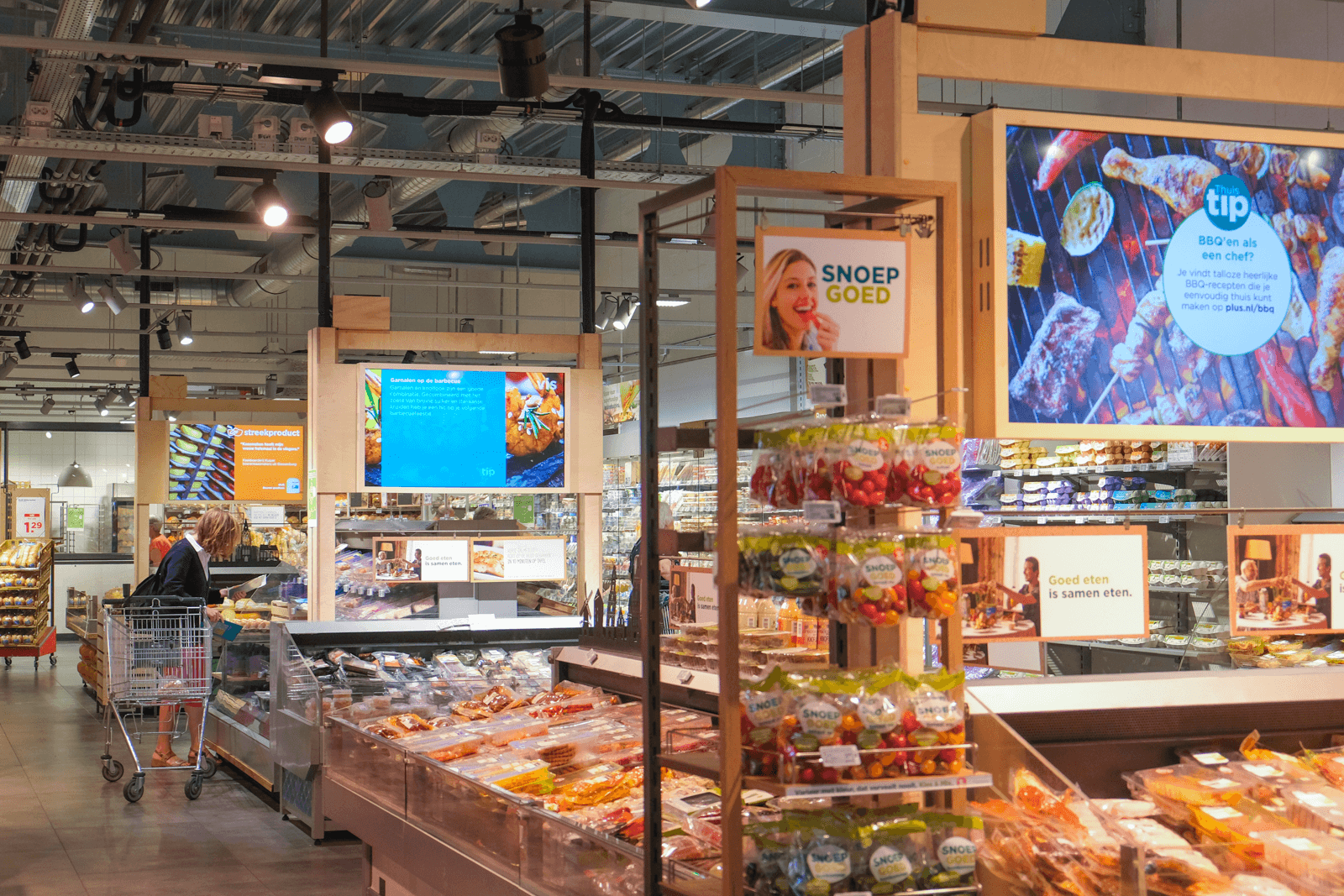 Narrowcasting in supermarkt