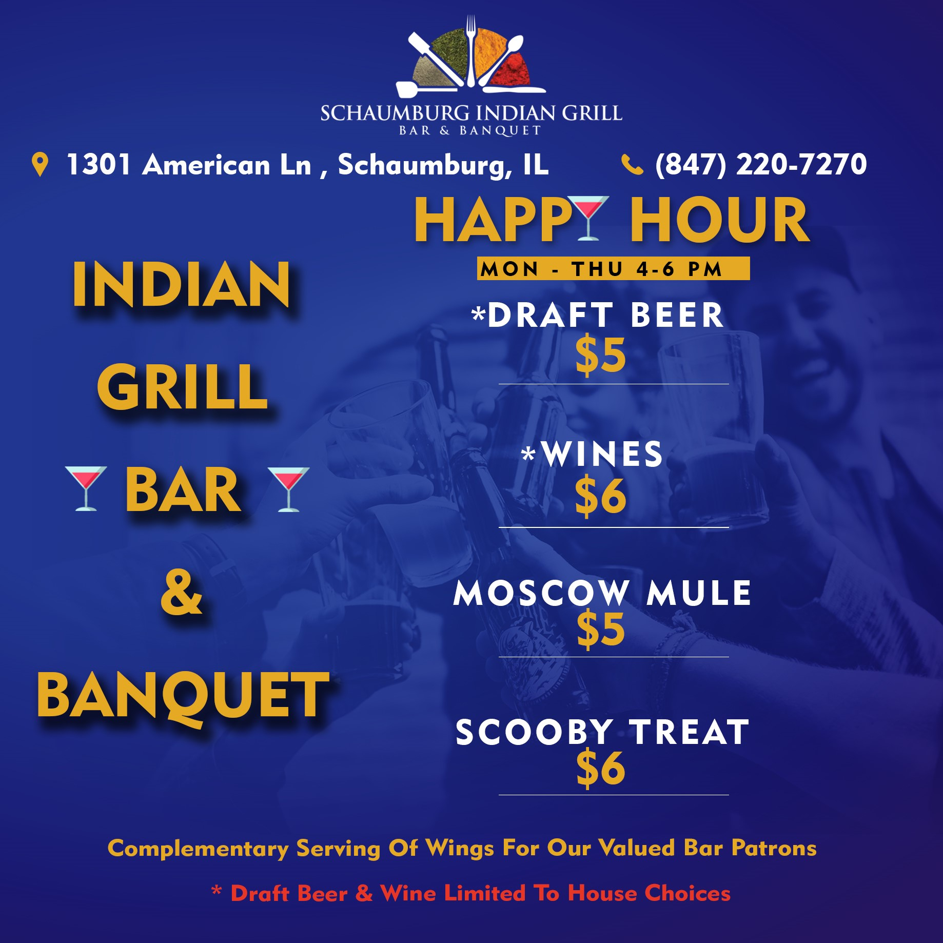 DON'T MISS HAPPY HOUR!