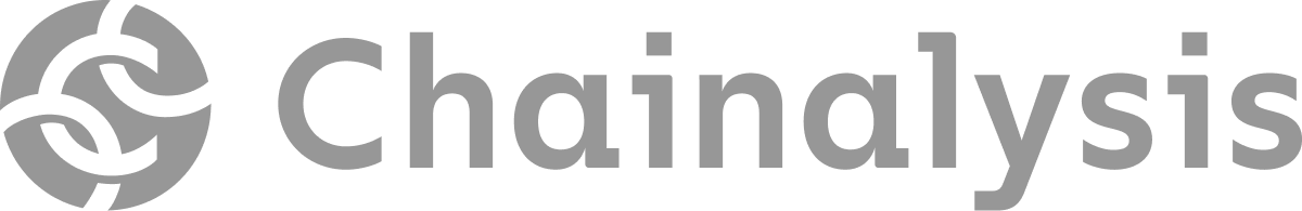 Chainalisis logo in gray.