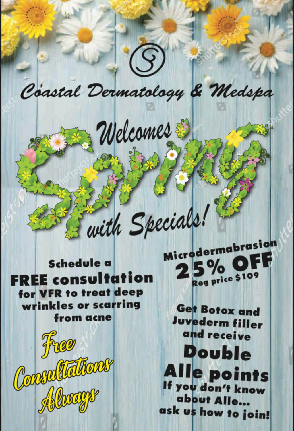 Welcome Spring with Specials!