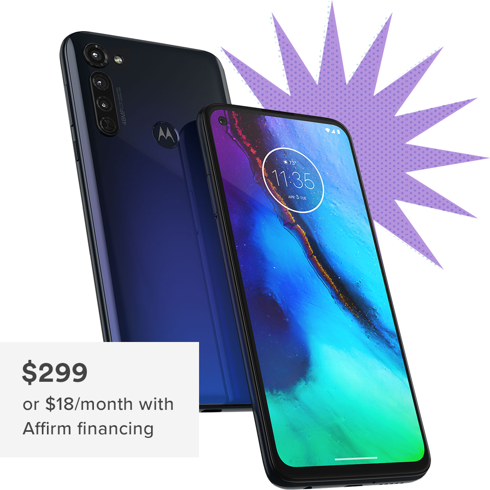 Motorola Moto G Stylus is $299 or $18 per month with Affirm financing