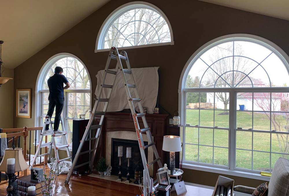 window film installation project in north wales
