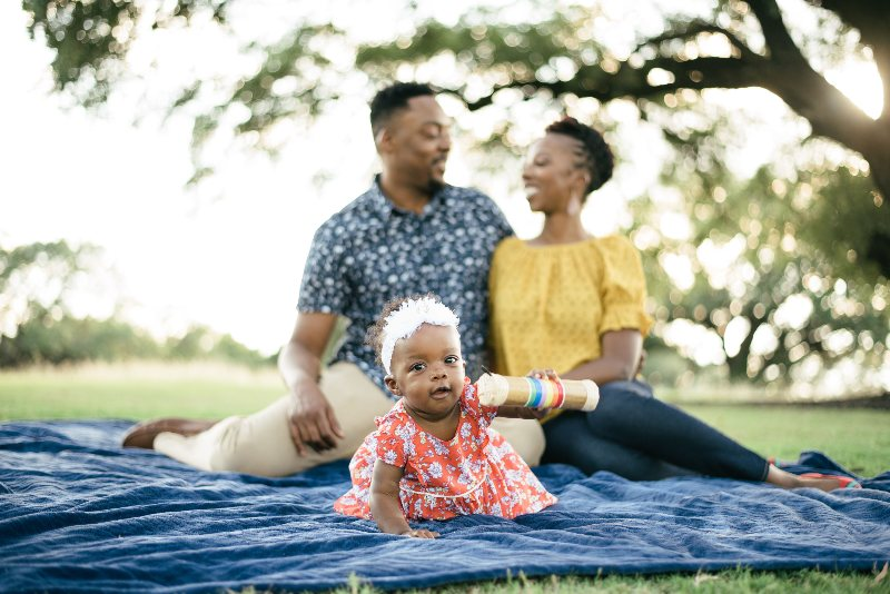dr. reid and family in park