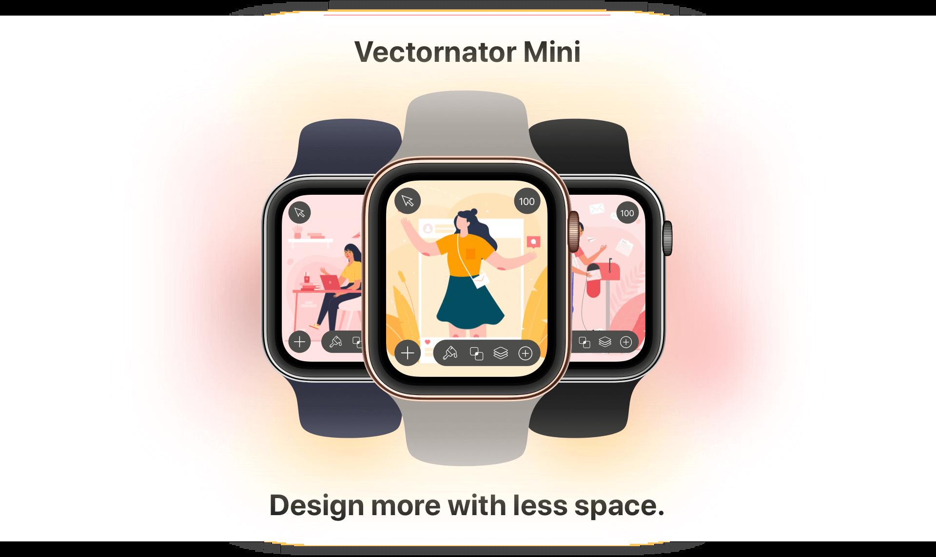 Meet Vectornator Mini: Graphic Design on Apple Watch.