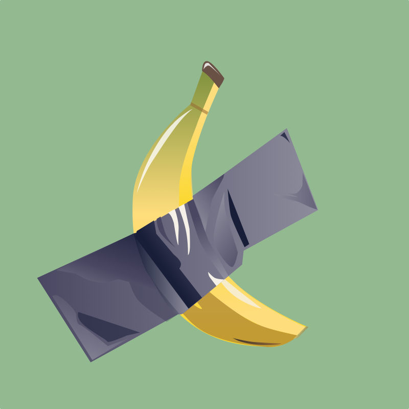 banana cattelan as a design-trend in 2020