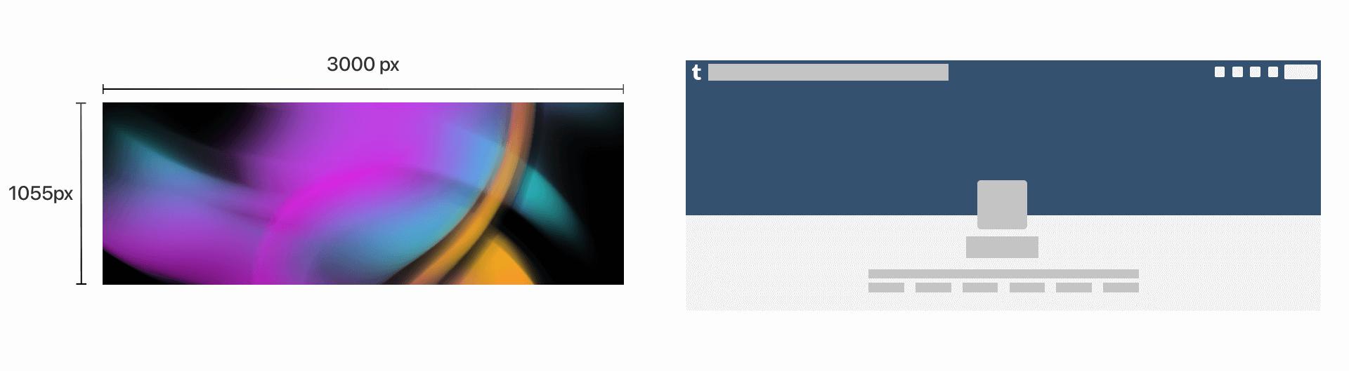 tumblr header size