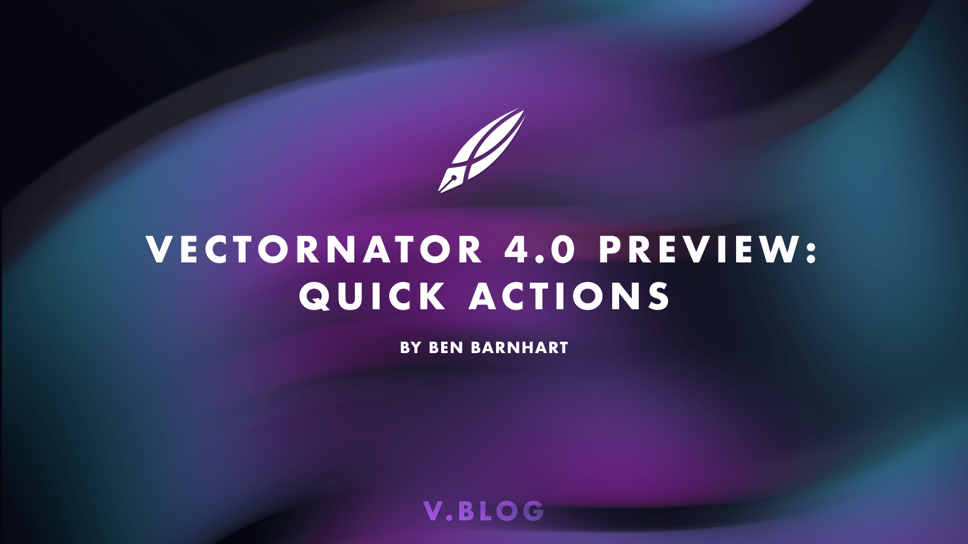 Vectornator 4.0 Preview: Quick Actions