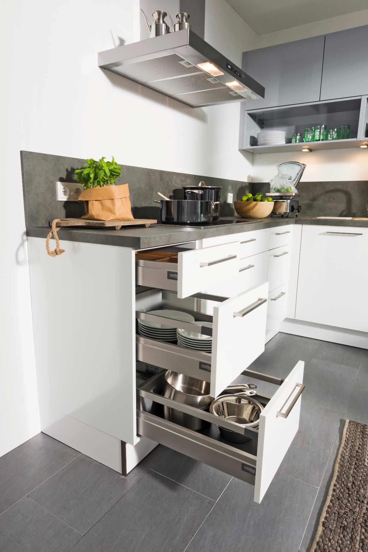 Nolte Tavola White Kitchen Drawer