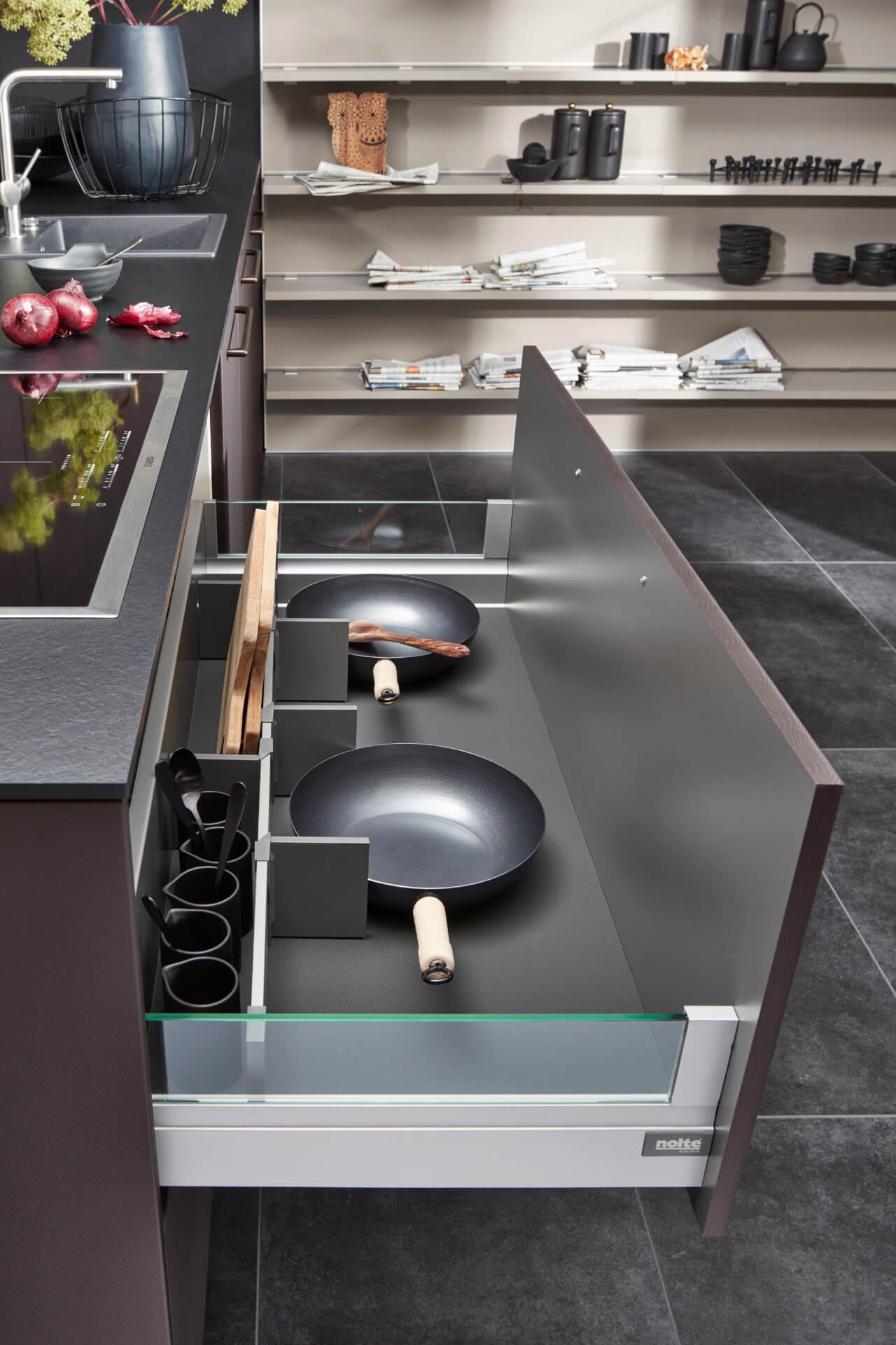 Nolte Tavola Glass Kitchen Drawer