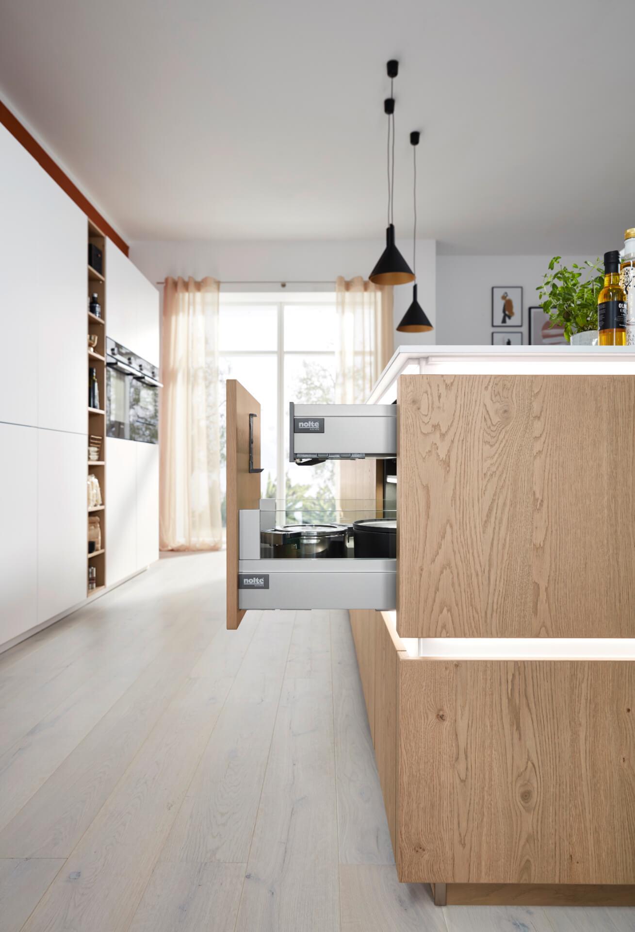 Nolte Tavola Wooden Kitchen Drawer