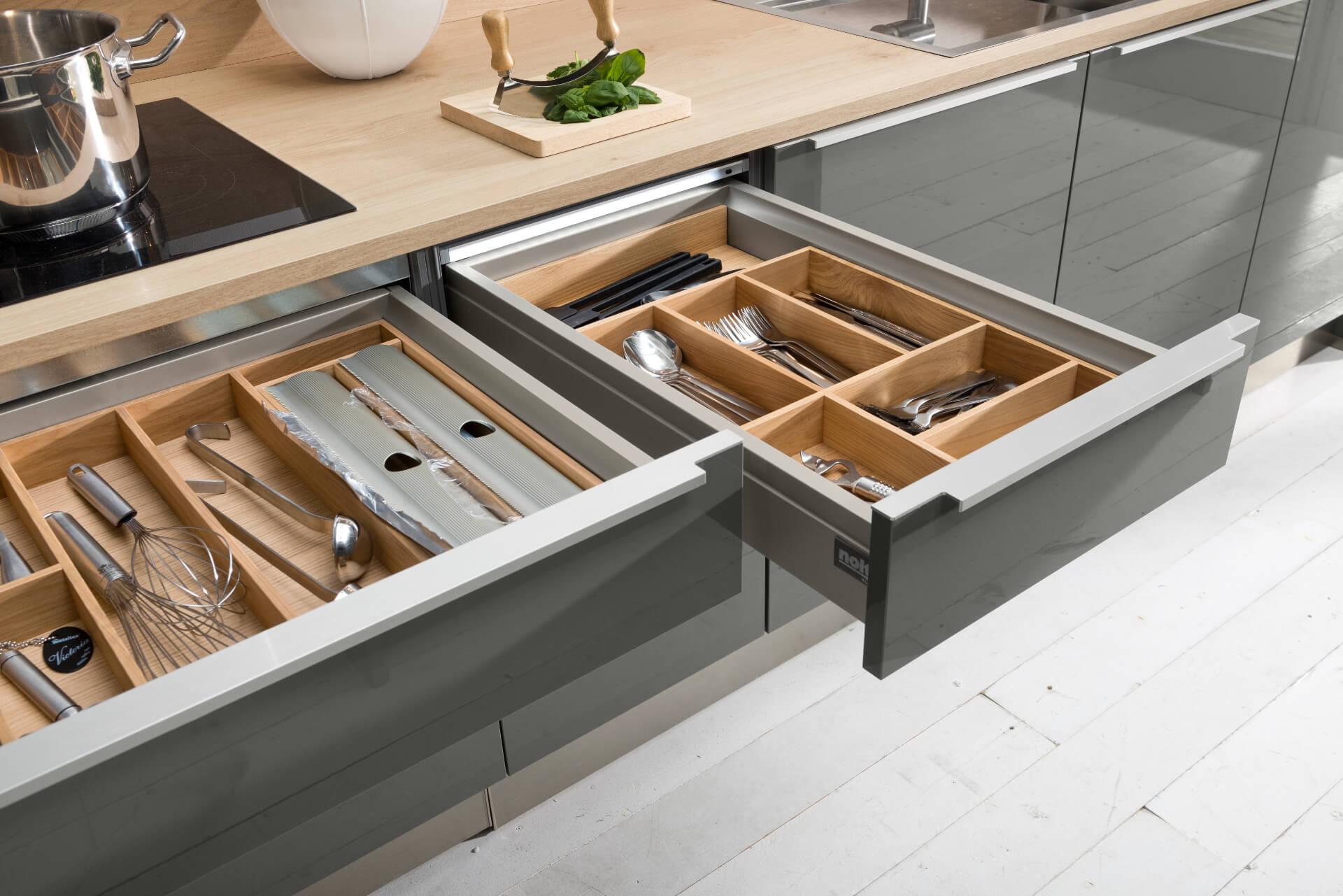Nolte Tavola Grey Kitchen Drawer