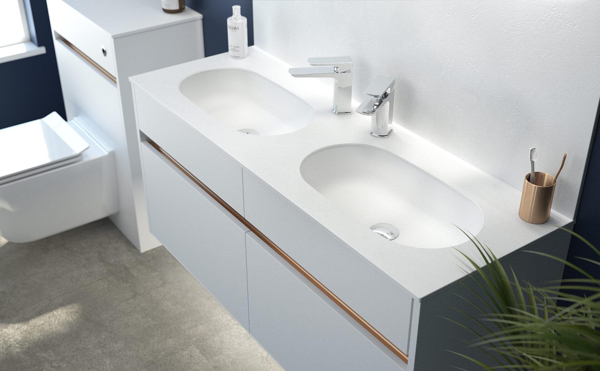 Utopia Bathroom Contemporary Fitted Bathroom Sink Unit