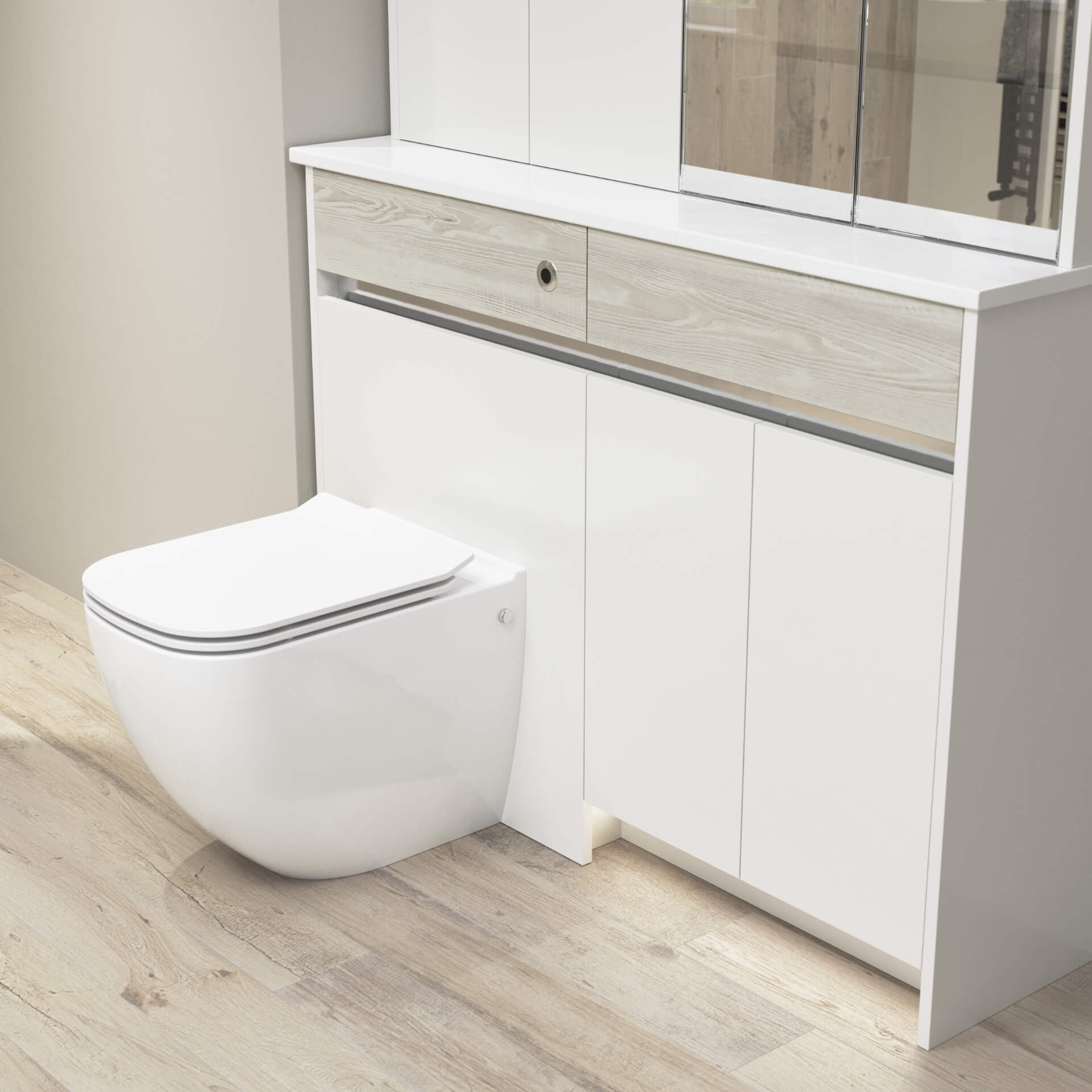 Utopia Bathroom Contemporary Fitted Toilet Unit
