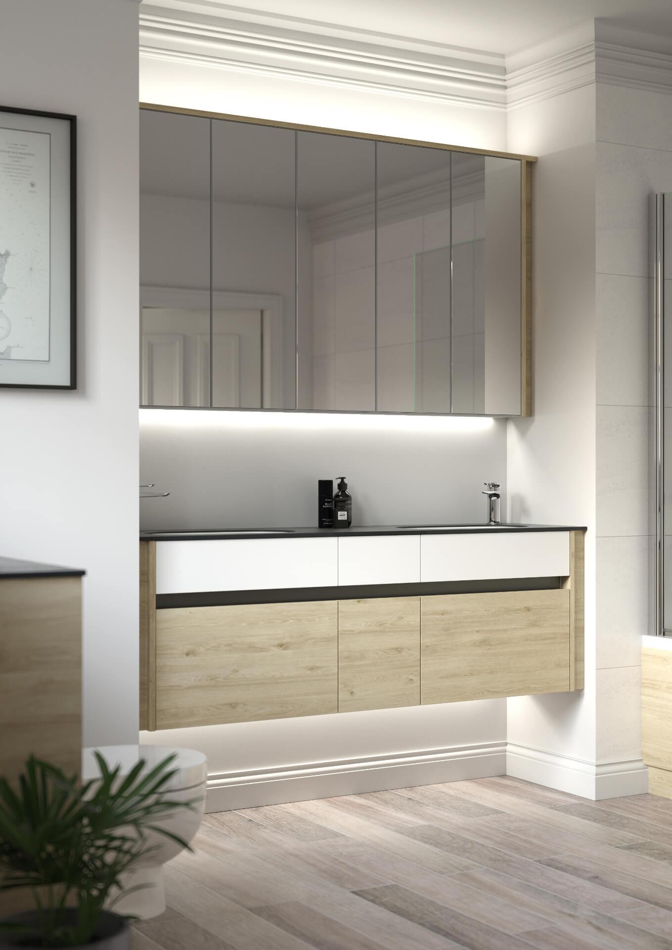 Utopia Bathroom Contemporary Fitted Bathroom Cabinet