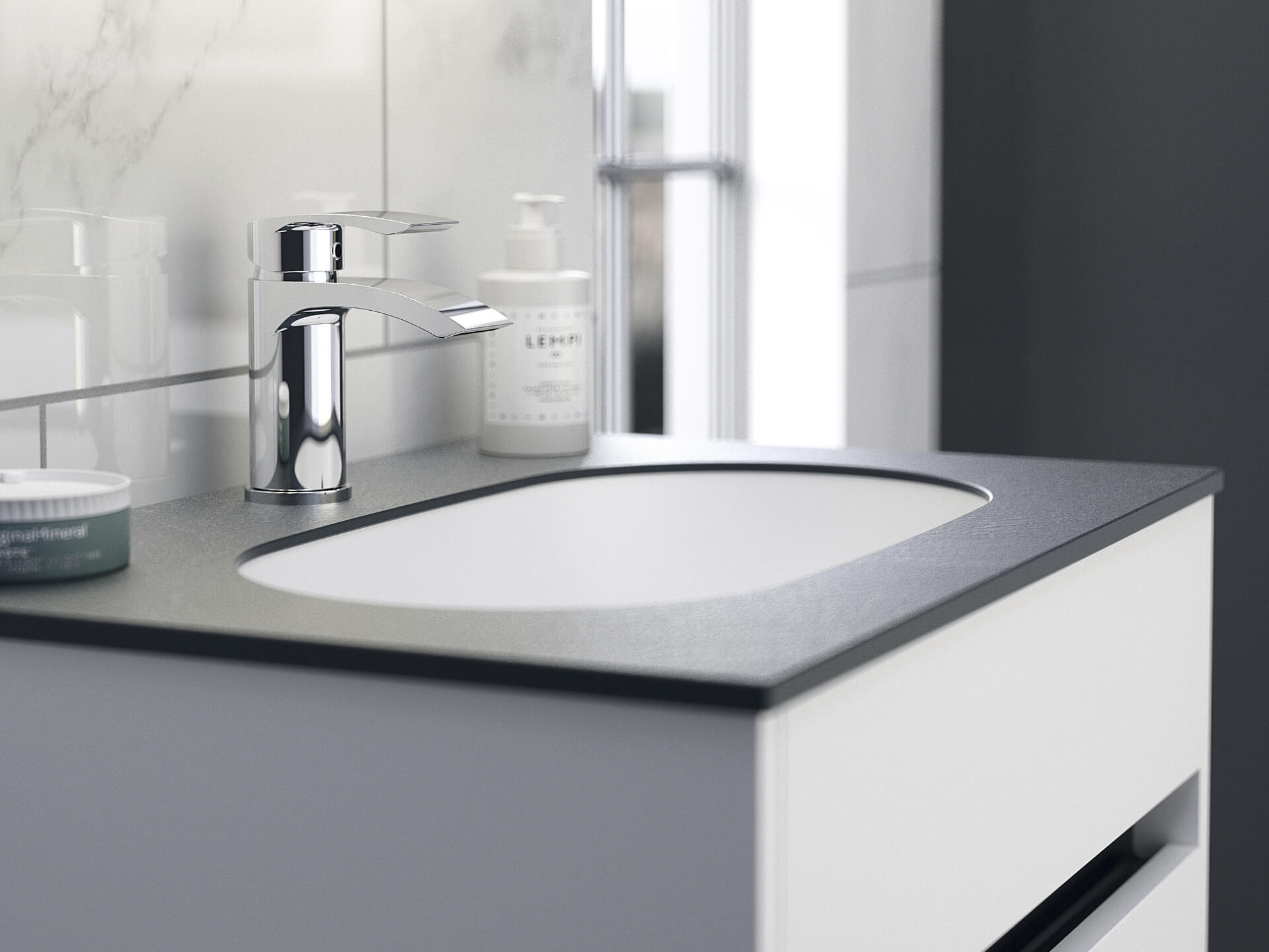 Utopia Bathroom Contemporary Fitted Sink Unit